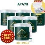 ANTI TAR® AT470 Cigarette Filter Triple Tar Filtration Disposable - AT470 Bundle 6 Boxes